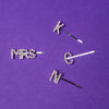Mrs + Initial Elektra Crystal Word Bobby Pin Pair