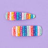 ELODIE RAINBOW GLITTER HAIRCLIP DUO