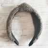 OLIVIA FLUFFY TEDDY BEAR KNOTTED HEADBAND