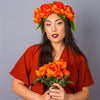 Autumn Oversized Peony Crown