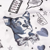 ZOE FRENCH BULLDOG SILK SCARF