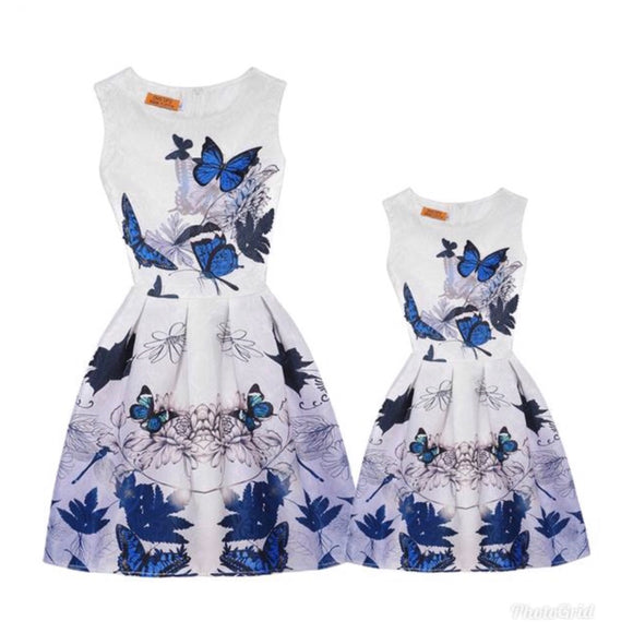 Mother & Daughter Butterfly Dress