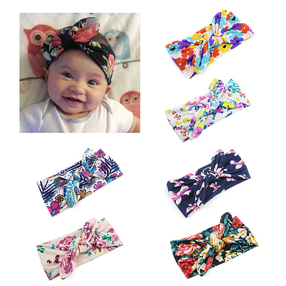 6PCS Baby Knotted Headband