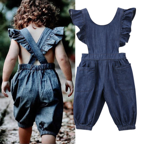 Denim Romper  12m-5t