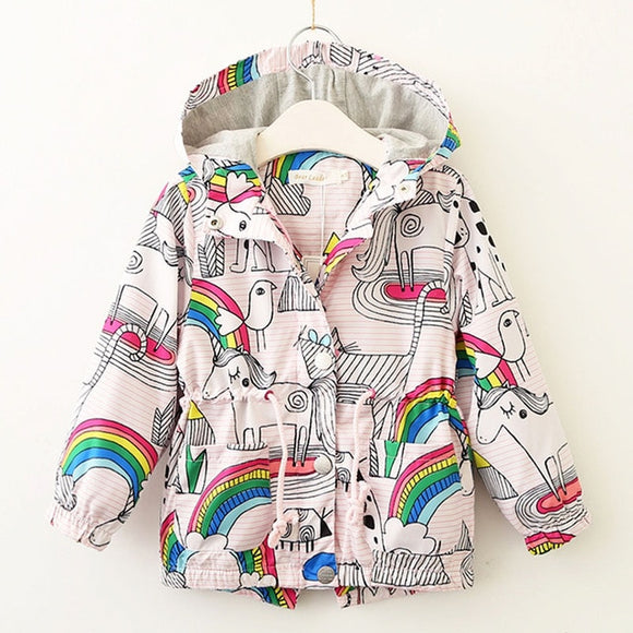 Unicorns and Rainbows Outwear Hooded Jacket