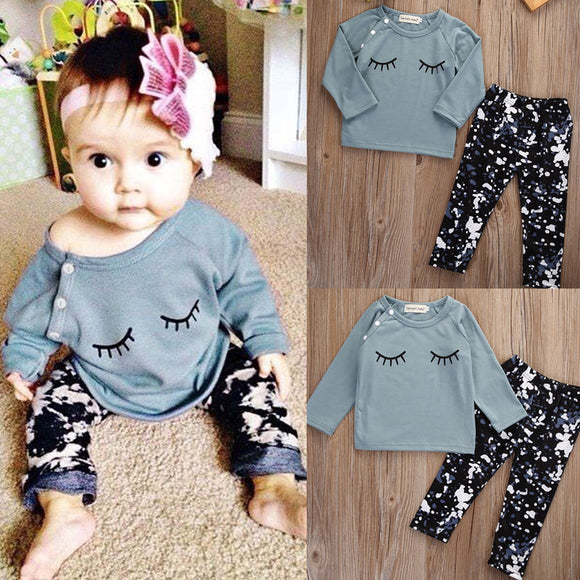 Eyelash print 2PC Set