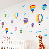 Colorful Hot Air Balloon Decal