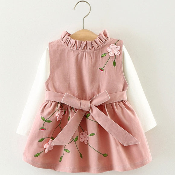 Flower Embroidery Dress (MORE COLORS)