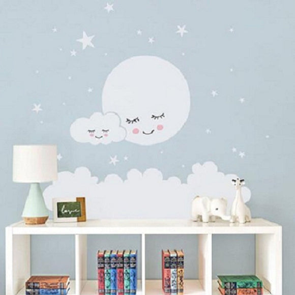 Beautiful Moon stars Wall Decal