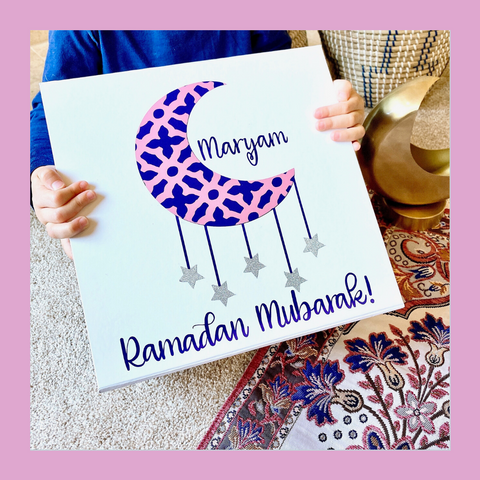 Ramadan Mubarak Girl's Keepsake Box | Ramadan Basket
