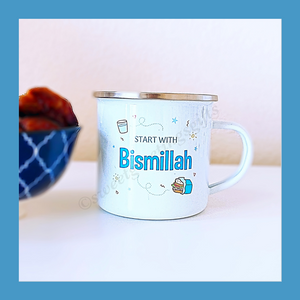 Start with Bismillah/ End with Alhumduillah Kids Camping Mug