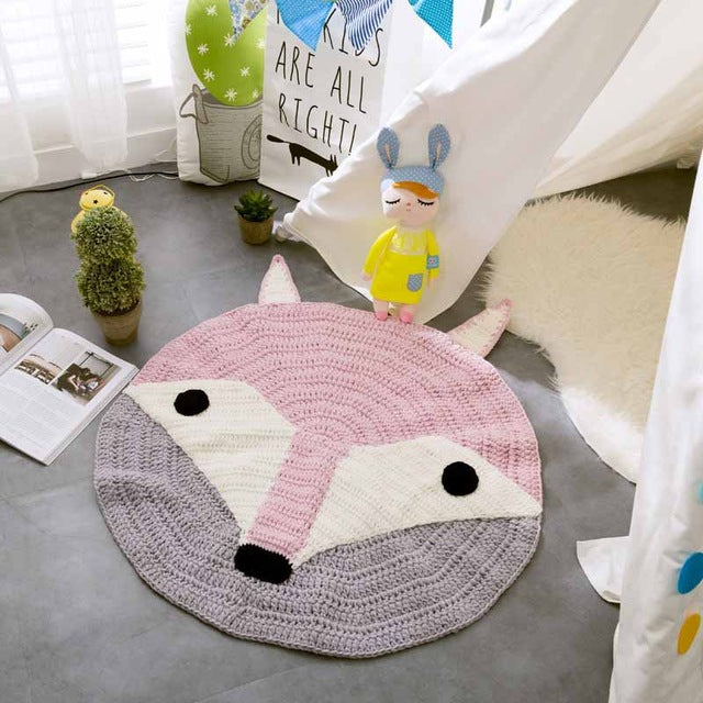 Hand Knitted Animal Baby Play Mat