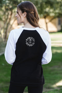 Namaste Republic Lotus Baseball Tee