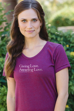 Namaste Republic Giving Love Attracting Love Tee