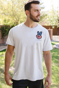 "Namaste Republic ""Super-Comfortable"" Peace USA Tee"