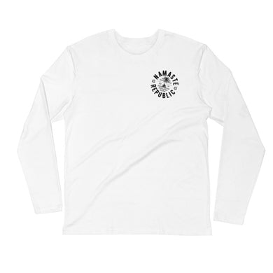 Namaste Republic Travel Logo Long Sleeve Fitted Crew