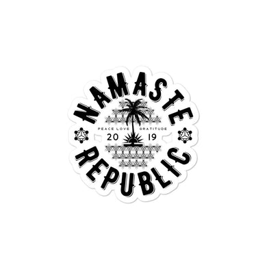 Namaste Republic Bubble-free stickers