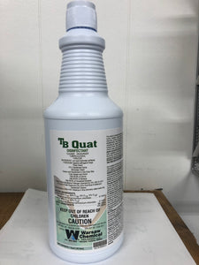 TB Quat - Disinfectant Cleaner - 1 Case, 12 Quarts with  Spray Trigger