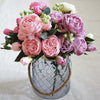 Beautiful Rose Peony Artificial Silk Flowers