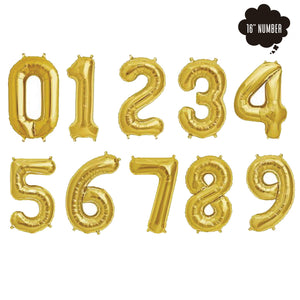 [16 Inch Number Balloon] - ( Gold Airfilled Only ) bloop-balloons.myshopify.com