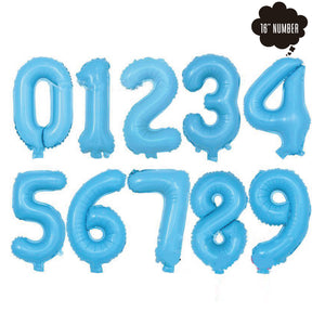 [16 Inch Number Balloon] - ( Pastel Blue Airfilled Only ) bloop-balloons.myshopify.com
