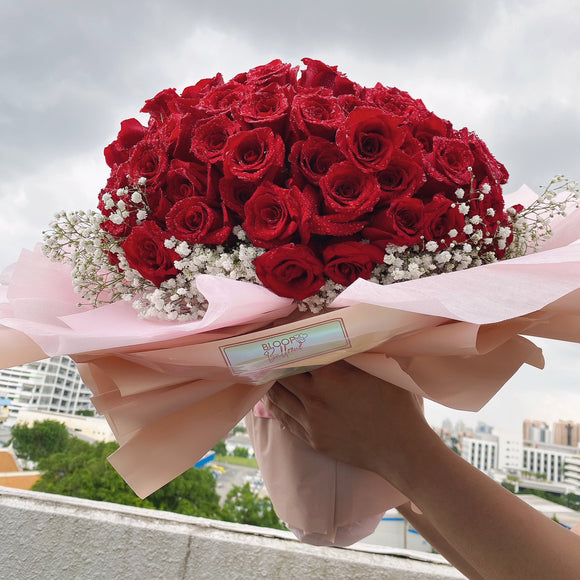 [SUPER JUMBO] 99 Red Roses Flower Bouquet