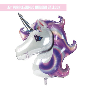 "33"" Purple Jumbo Unicorn Balloon"