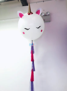 36'' Unicorn Balloon with Tassels bloop-balloons.myshopify.com