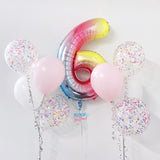 40'' Rainbow Number Balloon Bundle Set