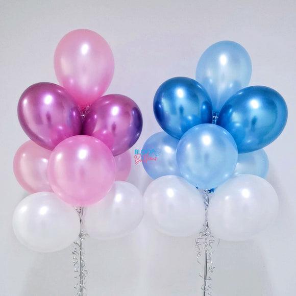 Blue and Pink Themed Helium Latex Balloon