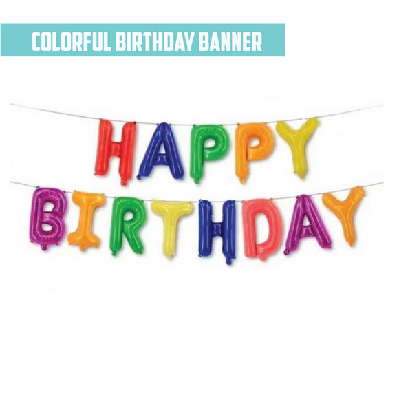 16 Inch Happy Birthday Foil - ( Colorful Airfilled Only ) bloop-balloons.myshopify.com