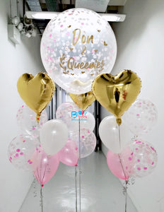 "36"" latex balloon with 3 bouquets of 5 ( Wedding Package ) bloop-balloons.myshopify.com"