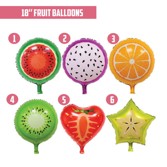 18'' Fruit Foil Balloon bloop-balloons.myshopify.com