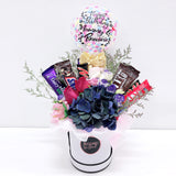 5''Personalised Balloon Premium Flower Box with 11 Chocolates