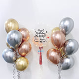 24'' Personalised Balloon with Chrome Balloons Side Bundle