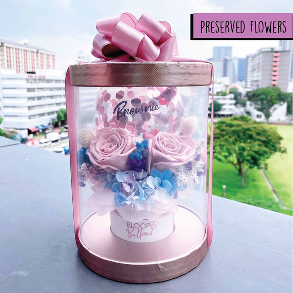 Personalised Balloon Preserved Bloom Box