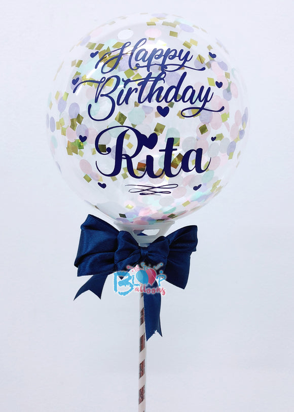 5'' Personalised Confetti Balloon bloop-balloons.myshopify.com