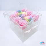 Personalised Acrylic Flower Box bloop-balloons.myshopify.com