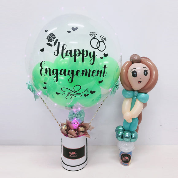 [SMALL] Hot Air Balloon Ferreo Rocher Box - Engagement/Wedding bloop-balloons.myshopify.com
