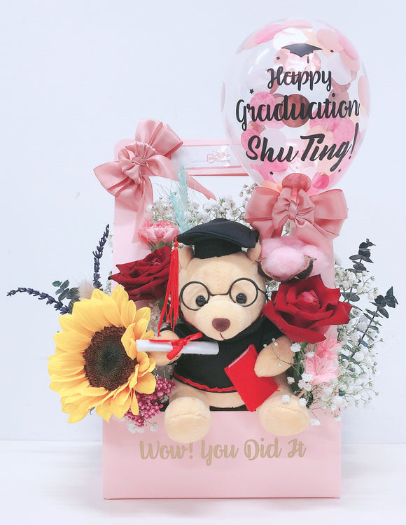 5'' Personalised Balloon Flower Handbag bloop-balloons.myshopify.com