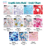 Heart Shaped Confetti Color Chart