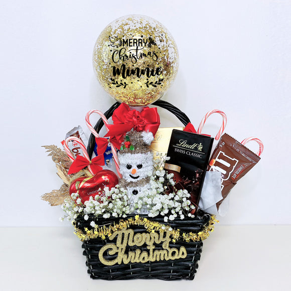 5'' Personalised Balloon Snack Hamper Basket