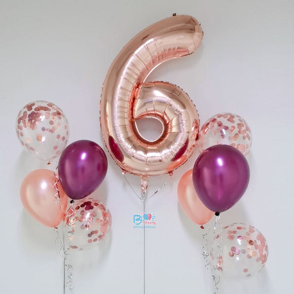 40'' Number Balloon Bundle Set - Birthday Package