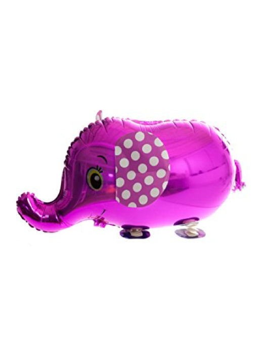 Walking Pet Animal Balloon - Pink Elephant
