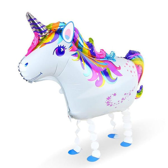 Walking Pet Animal Balloon - Rainbow Unicorn