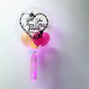 "24"" Personalised Balloon - For Proposal ( Will You Marry Me) bloop-balloons.myshopify.com"