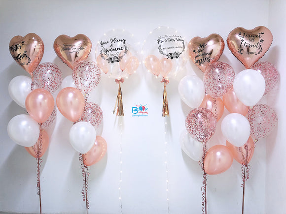 2 x 24'' personalised balloon with 4 bouquets of 7 balloons bloop-balloons.myshopify.com