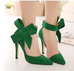 Women Big Bow Tie Pumps SALE