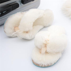 Slippers flip-conditioned home wool slippers SALE