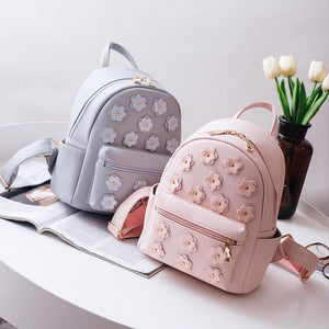 Women Flower Mini Bag Printing Backpack